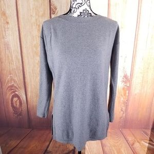 Gap Gray Boatneck 3/4 Sleeve Shirt Size S B61